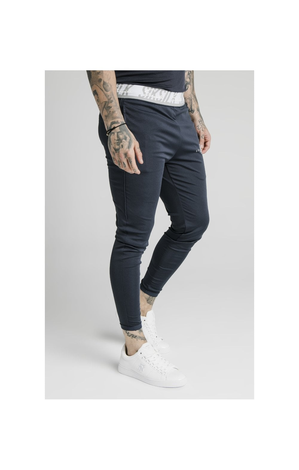 SikSilk Scope Tape Track Pant - Navy (1)