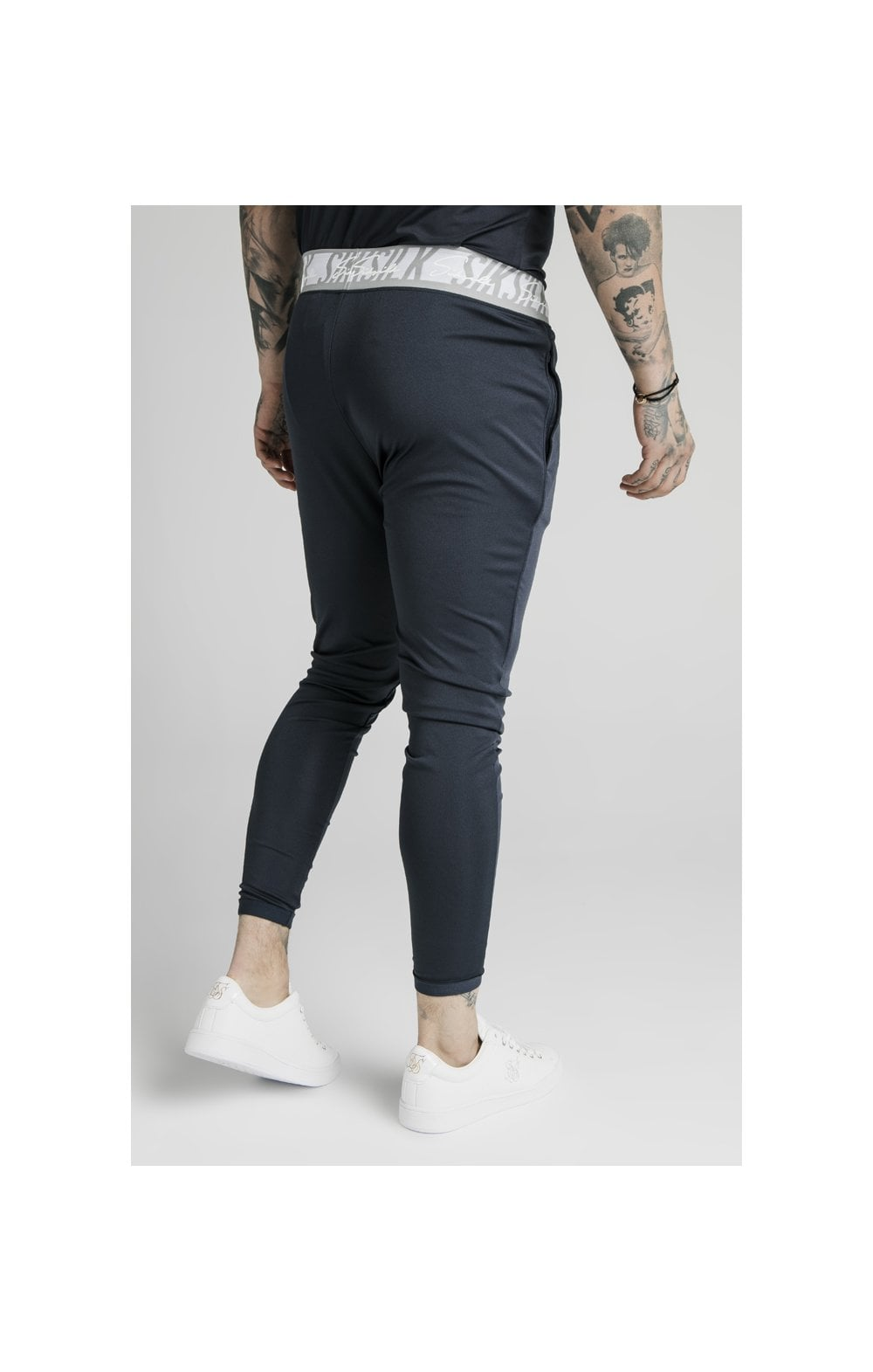 SikSilk Scope Tape Track Pant - Navy (2)