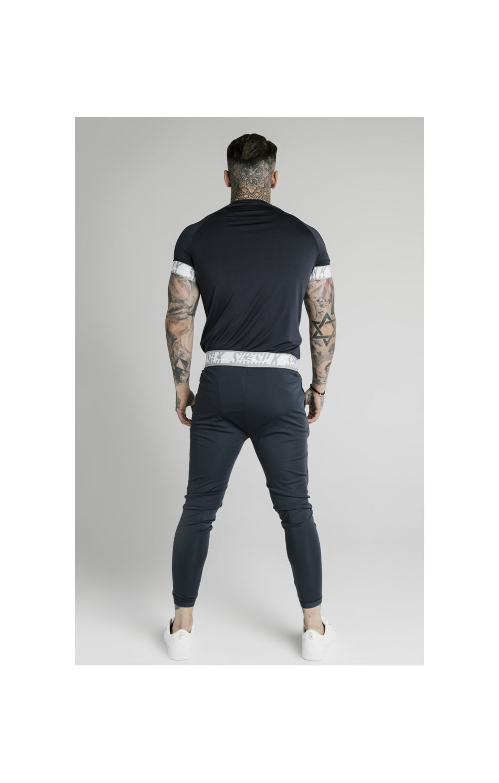 SikSilk Scope Tape Track Pant - Navy (8)