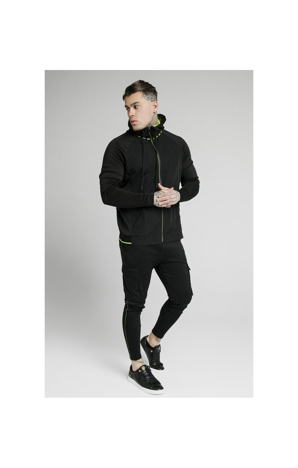 SikSilk Adapt Crushed Nylon Zip Through – Black (3)