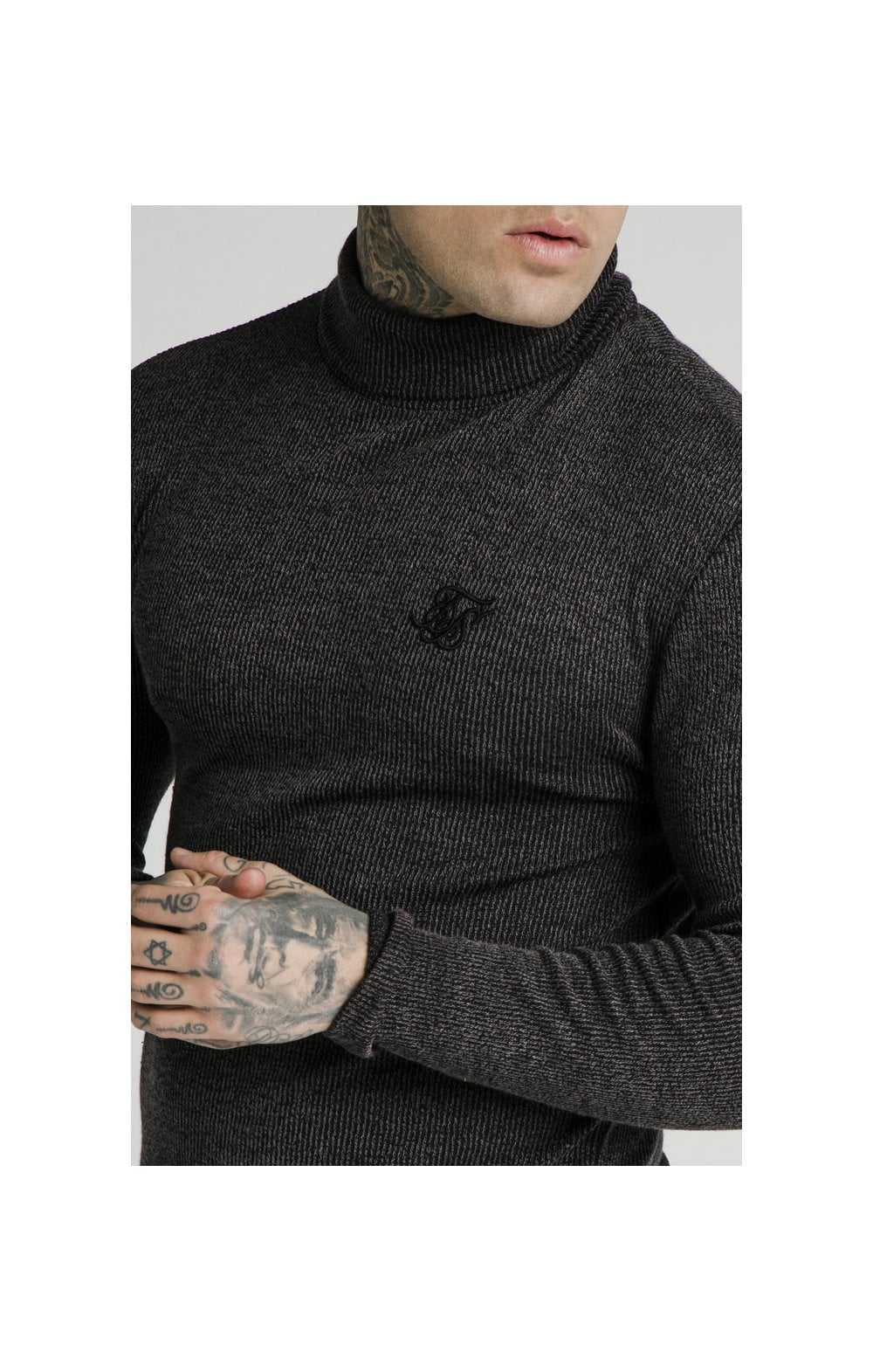 Load image into Gallery viewer, SikSilk Rib Turtle Neck - Jet Black (1)