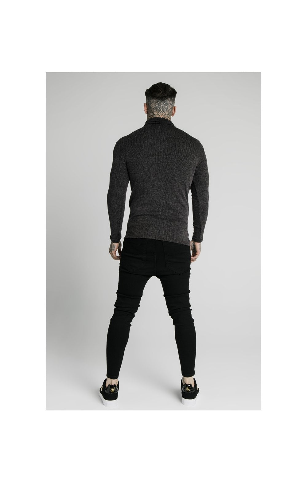 Load image into Gallery viewer, SikSilk Rib Turtle Neck - Jet Black (5)