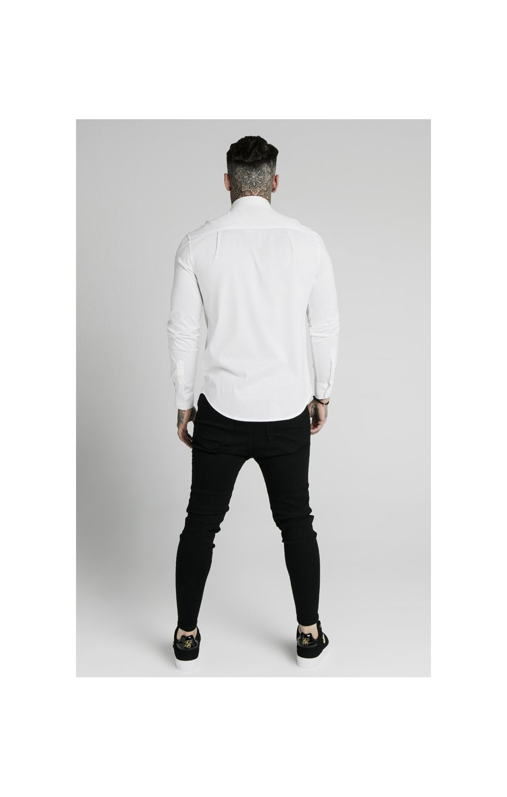 Load image into Gallery viewer, SikSilk L/S Cotton Shirt - White (5)