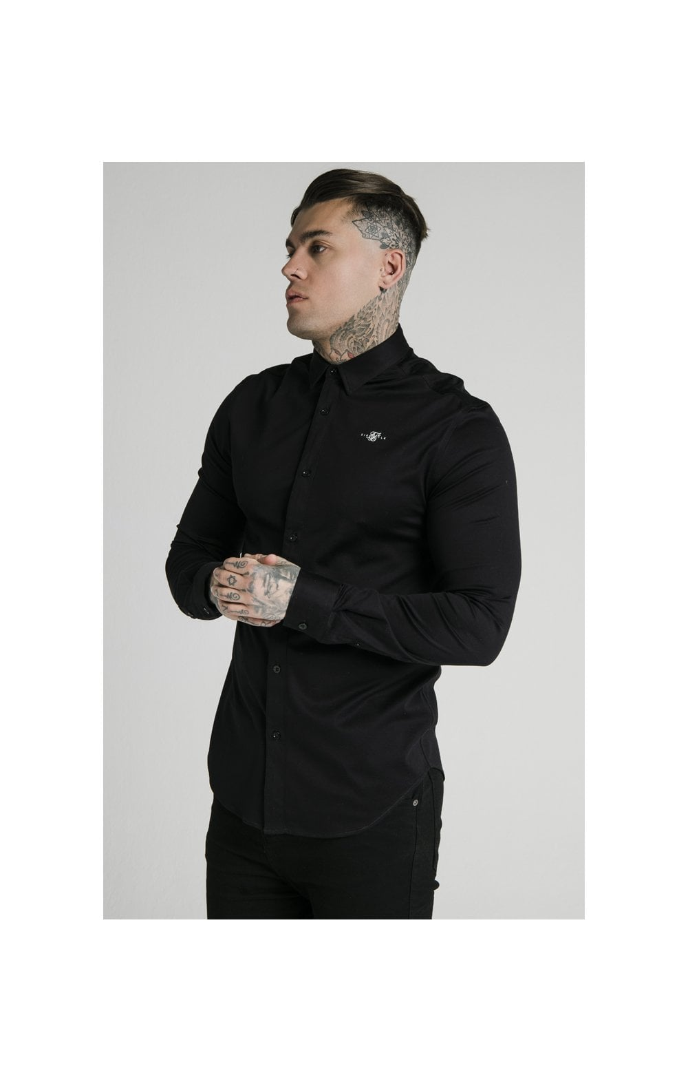 Load image into Gallery viewer, SikSilk L/S Cotton Shirt - Black