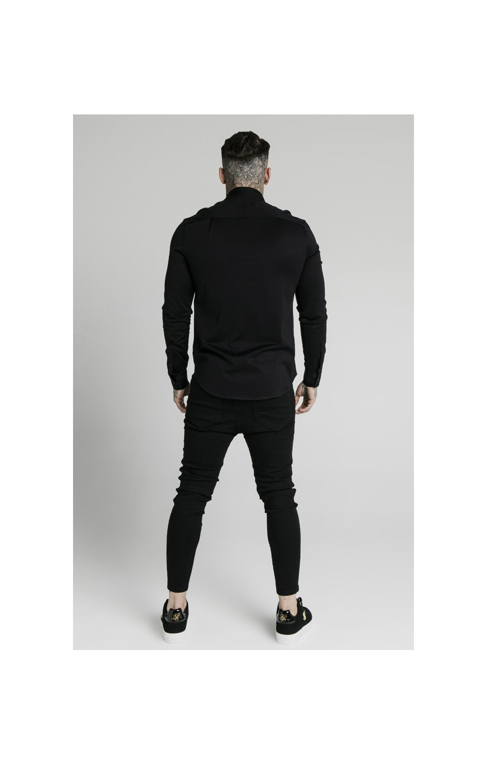 Load image into Gallery viewer, SikSilk L/S Cotton Shirt - Black (5)