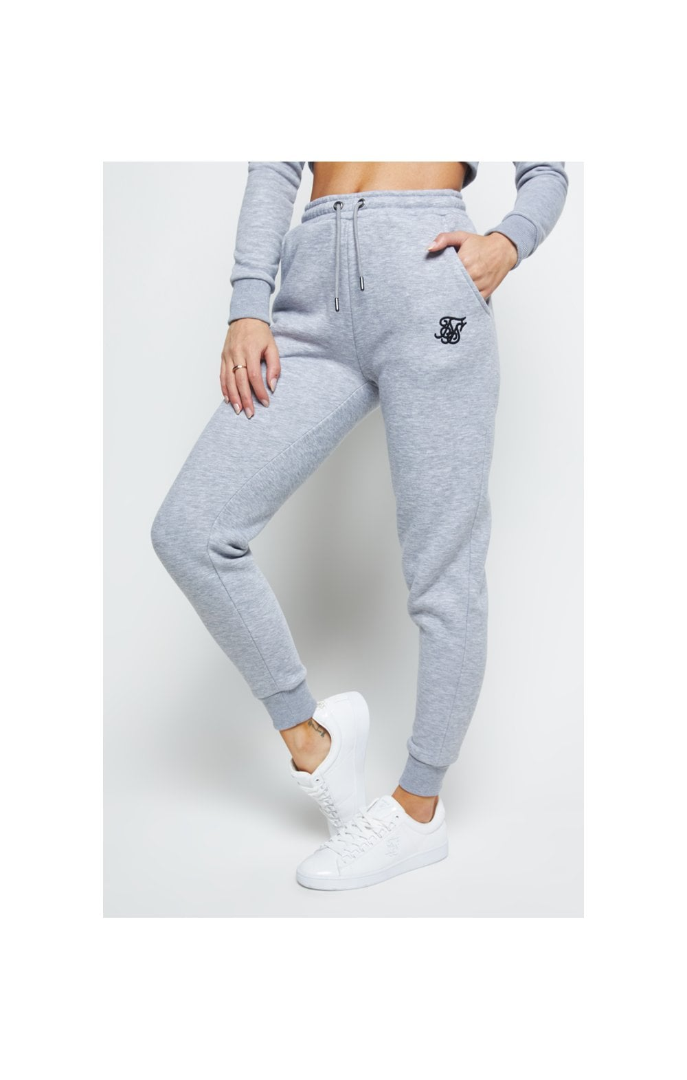 SikSilk Track Pants – Grey Marl
