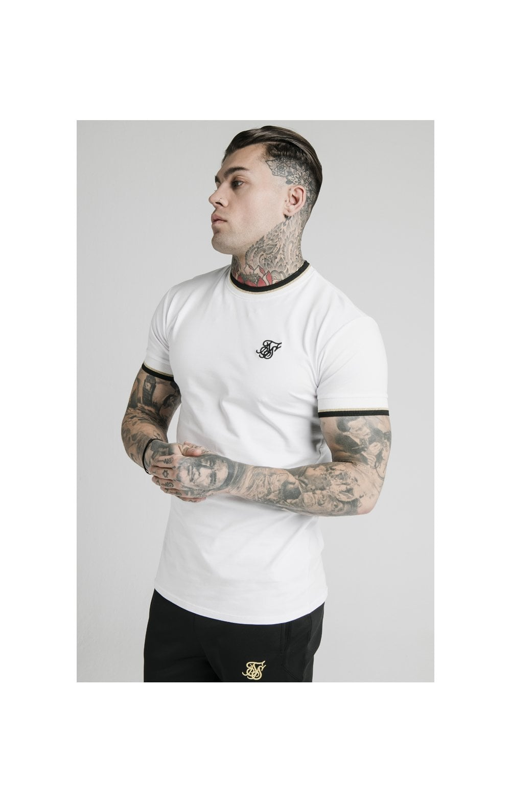 Load image into Gallery viewer, SikSilk S/S Deluxe Straight Hem Tee - White