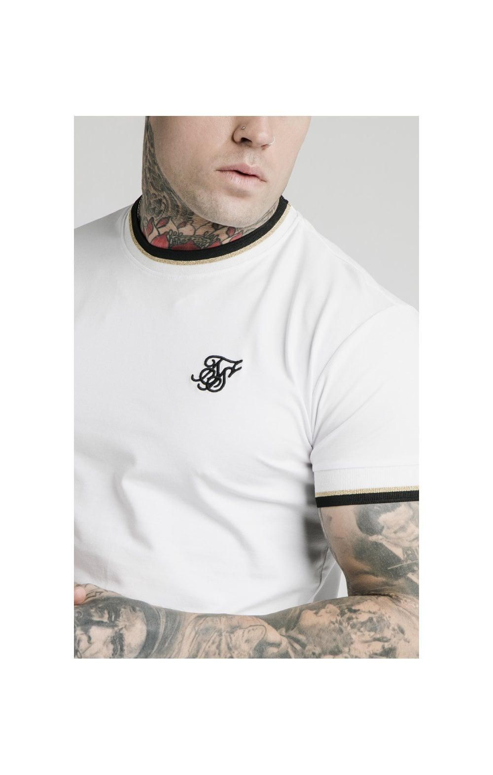 Load image into Gallery viewer, SikSilk S/S Deluxe Straight Hem Tee - White (1)