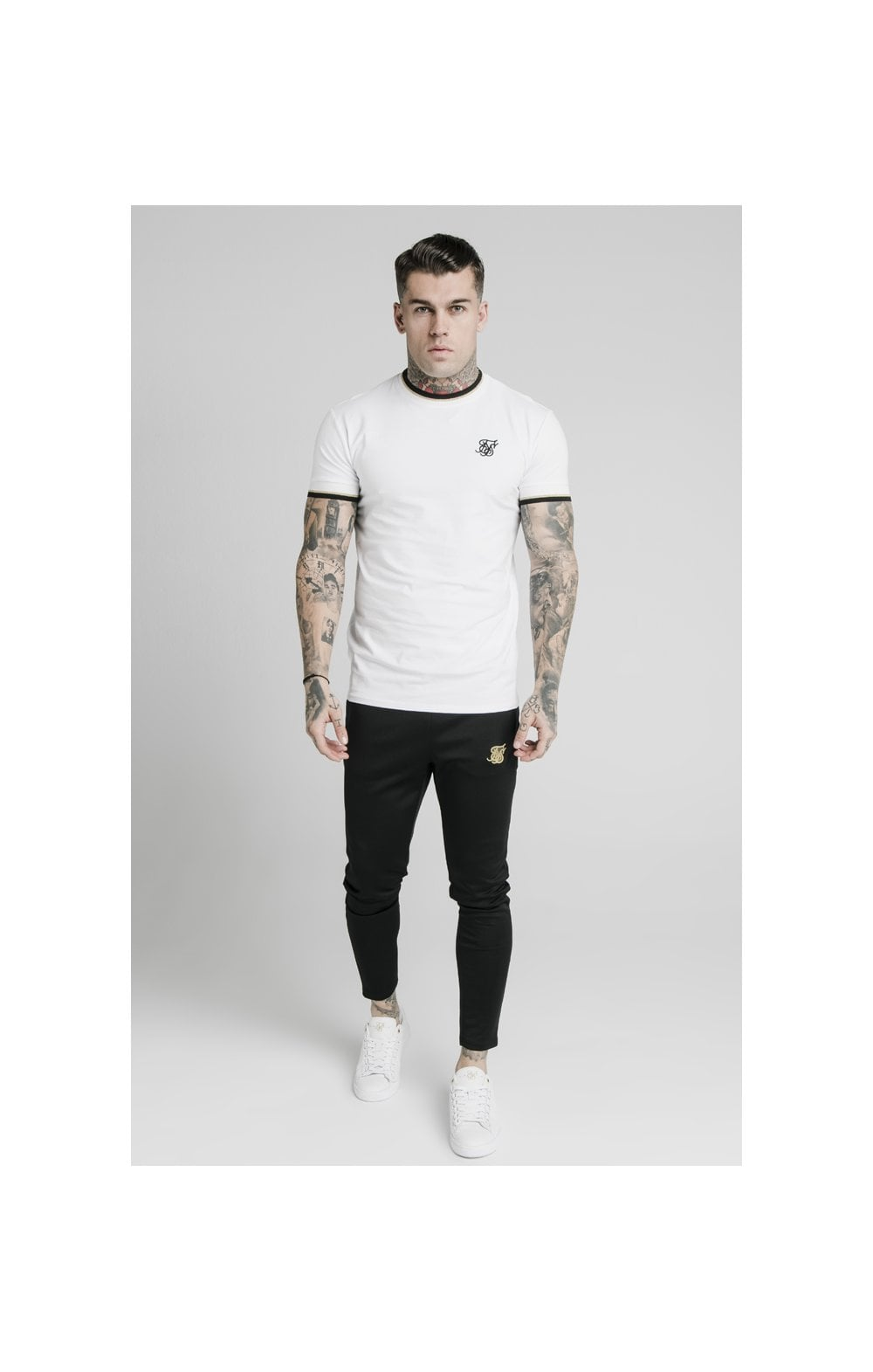 Load image into Gallery viewer, SikSilk S/S Deluxe Straight Hem Tee - White (2)