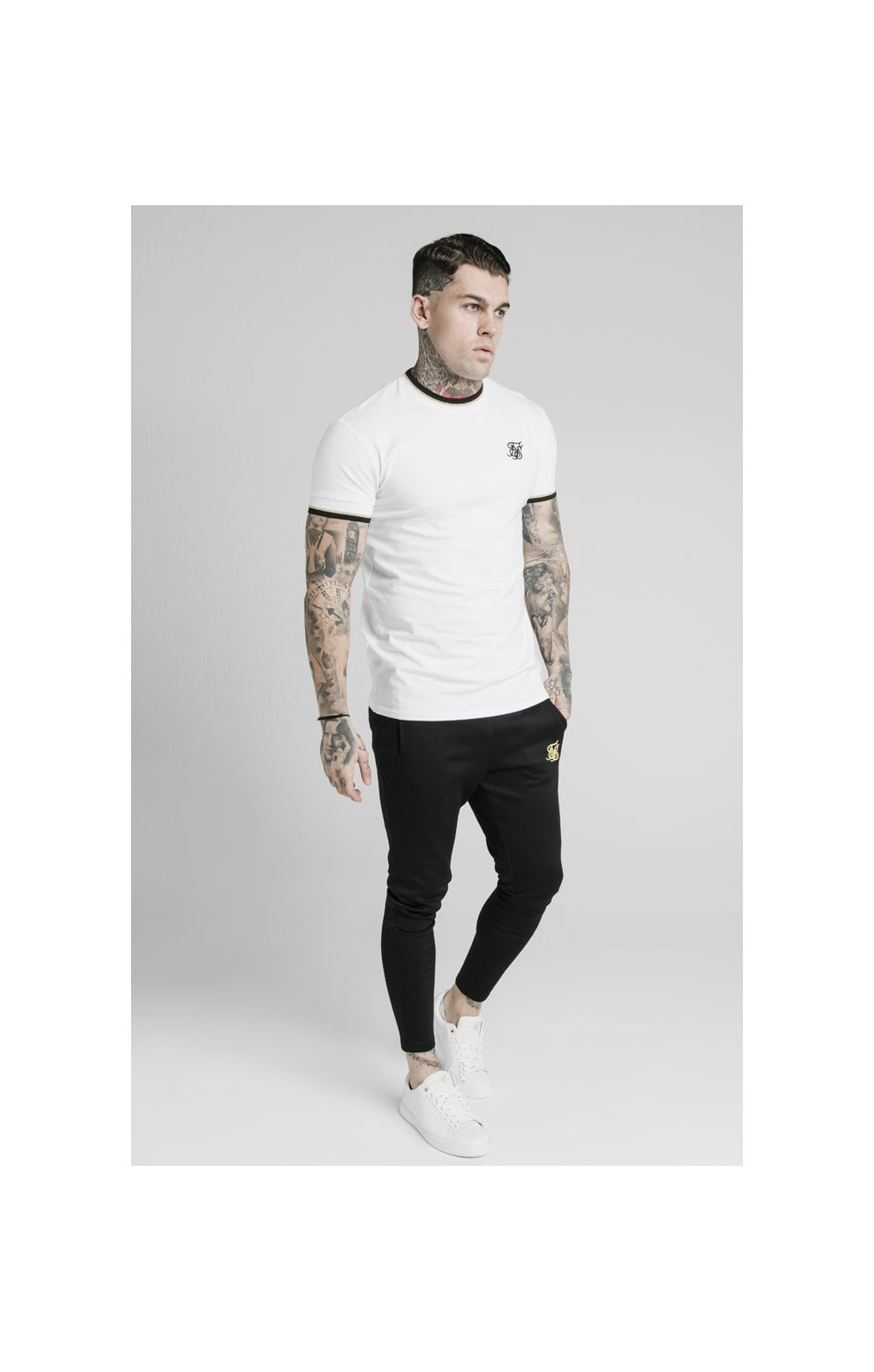 Load image into Gallery viewer, SikSilk S/S Deluxe Straight Hem Tee - White (3)