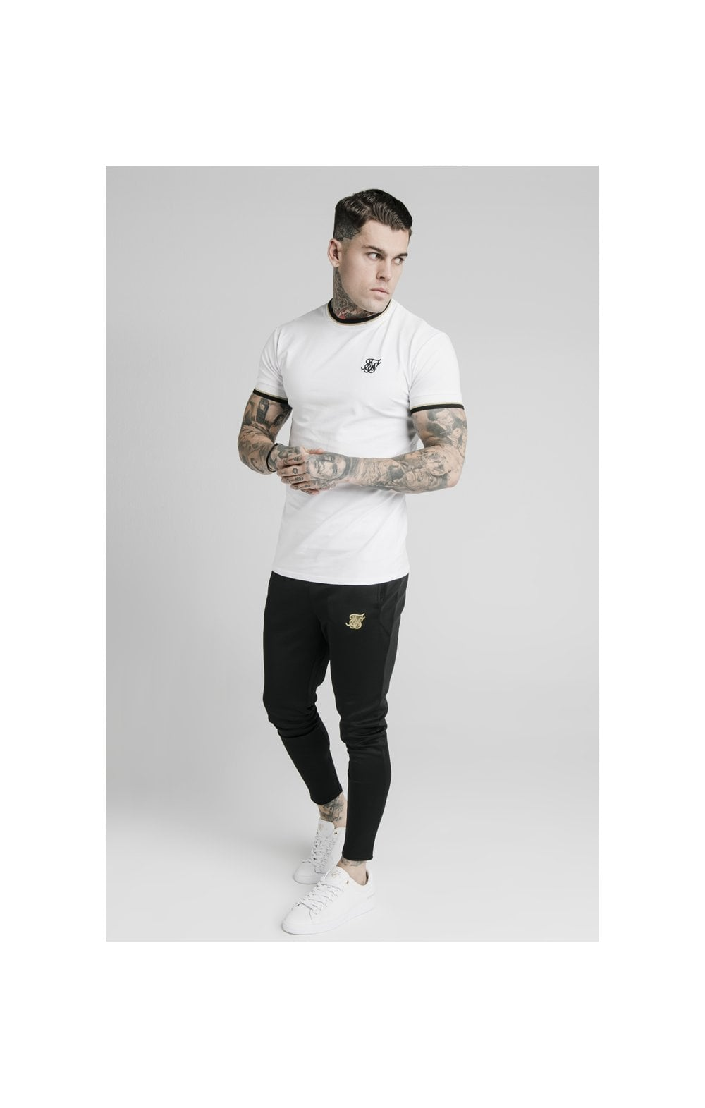 Load image into Gallery viewer, SikSilk S/S Deluxe Straight Hem Tee - White (4)