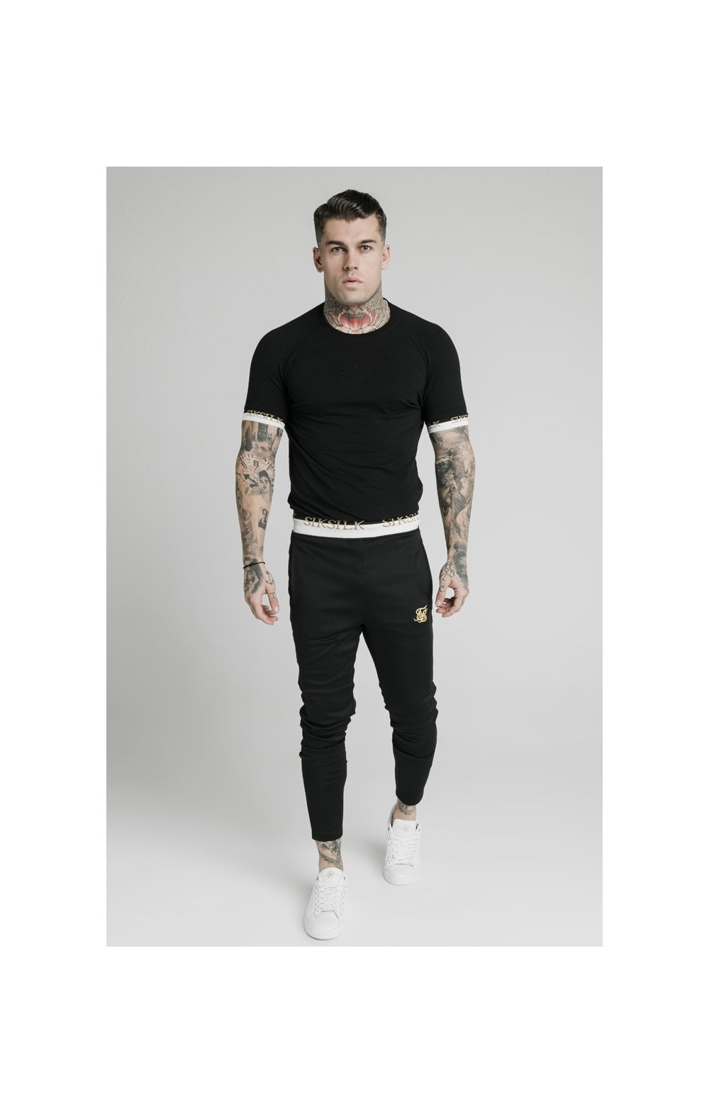 SikSilk S/S Deluxe Raglan Tech Tee - Black