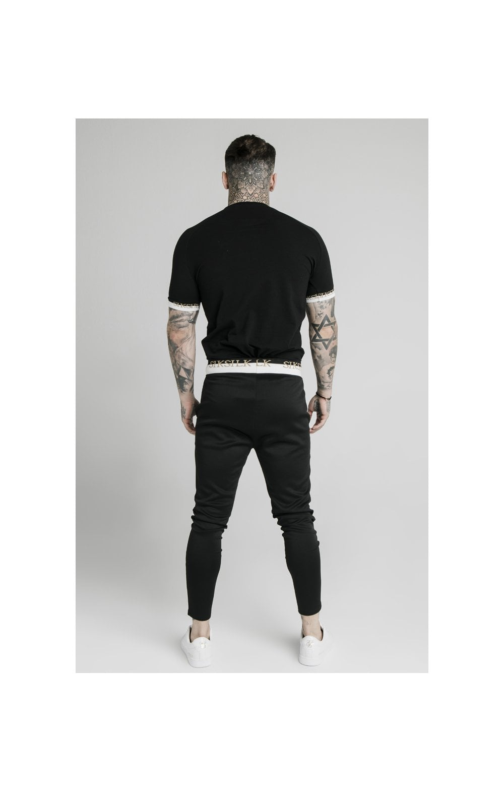 Load image into Gallery viewer, SikSilk S/S Deluxe Raglan Tech Tee - Black (4)
