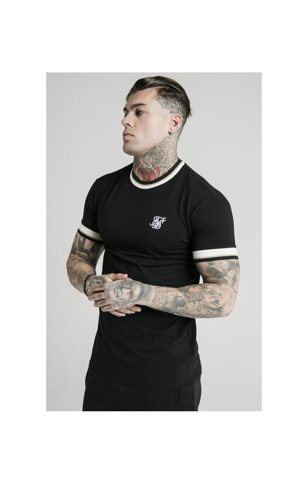 Load image into Gallery viewer, SikSilk S/S Deluxe Straight Hem Tee - Black