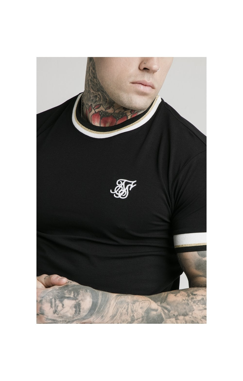 Load image into Gallery viewer, SikSilk S/S Deluxe Straight Hem Tee - Black (1)