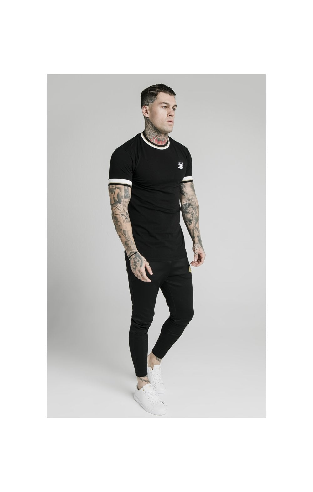 Load image into Gallery viewer, SikSilk S/S Deluxe Straight Hem Tee - Black (2)