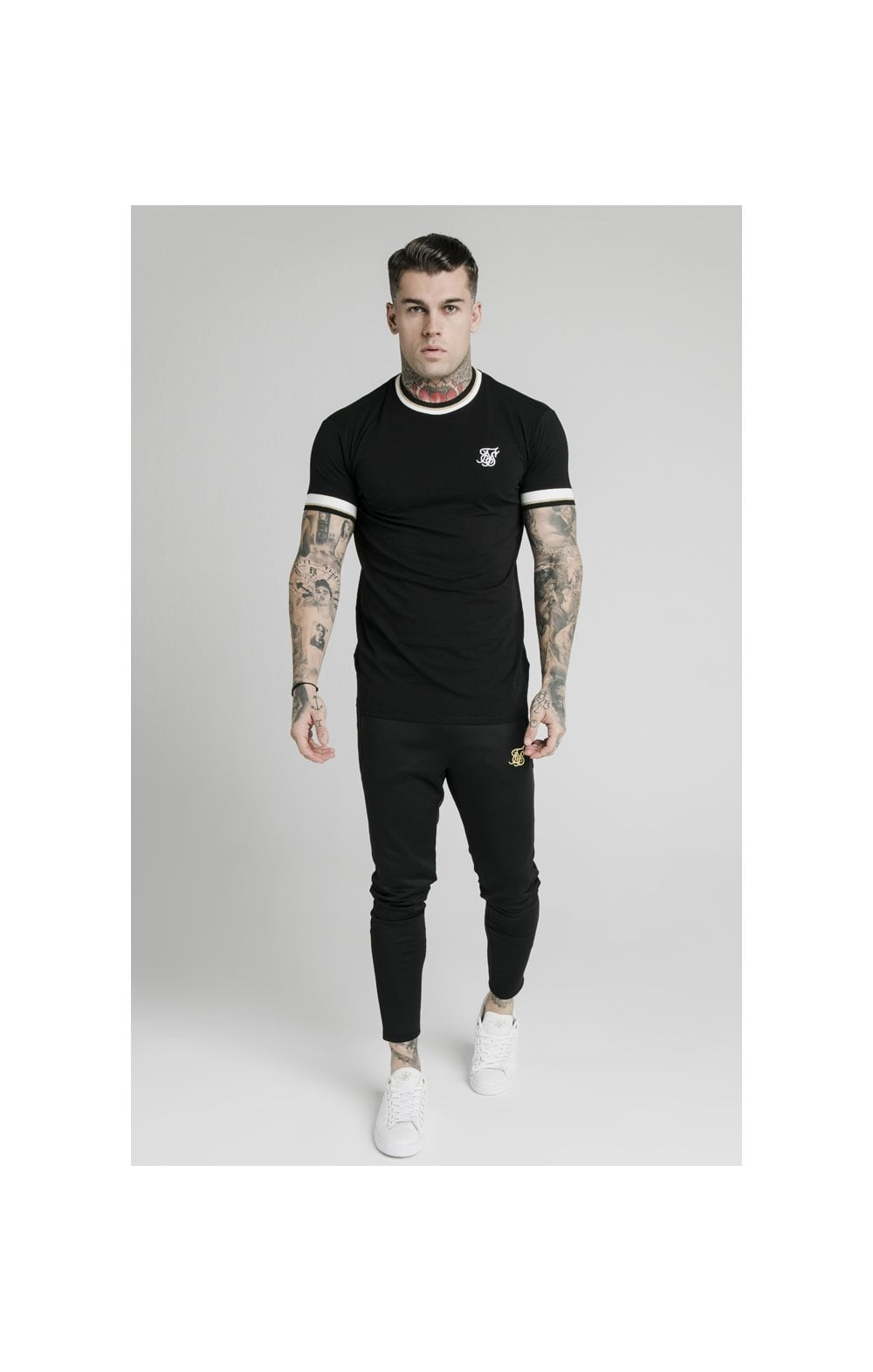 Load image into Gallery viewer, SikSilk S/S Deluxe Straight Hem Tee - Black (3)