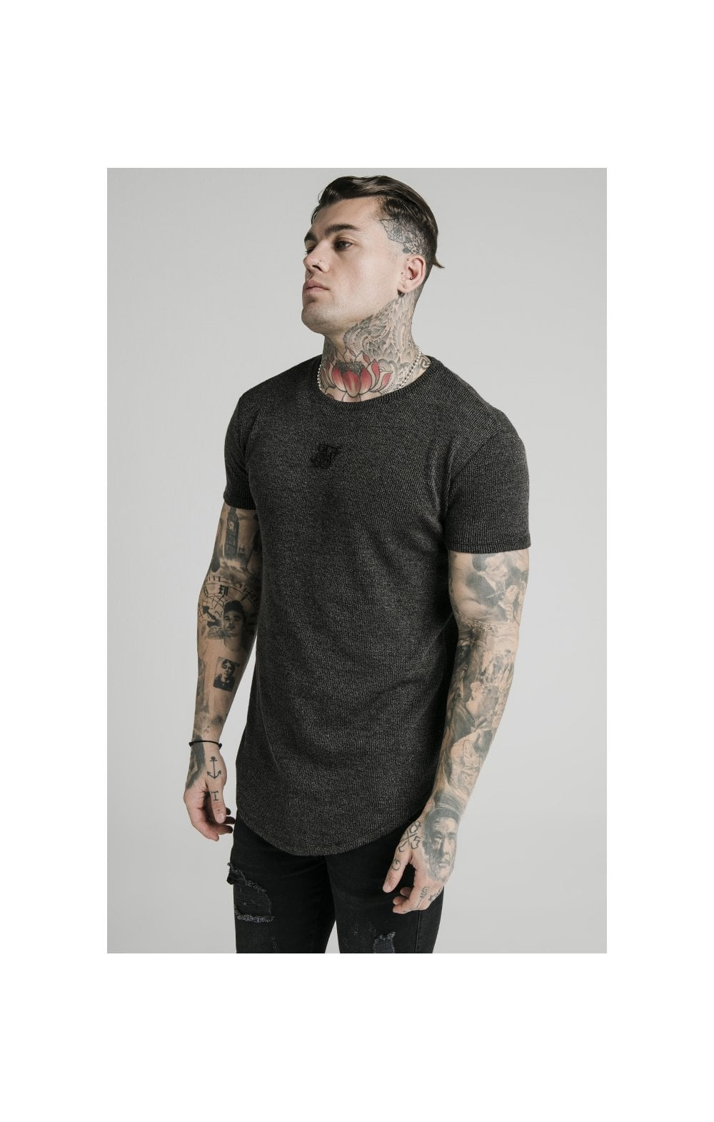 Load image into Gallery viewer, SikSilk Rib Knit Gym Tee - Black