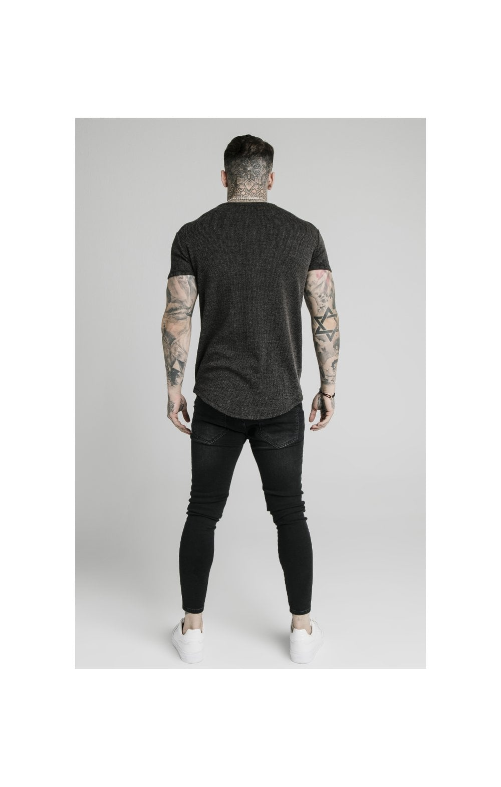 Load image into Gallery viewer, SikSilk Rib Knit Gym Tee - Black (5)