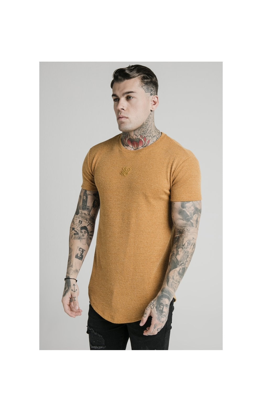 Load image into Gallery viewer, SikSilk Rib Knit Gym Tee - Yellow