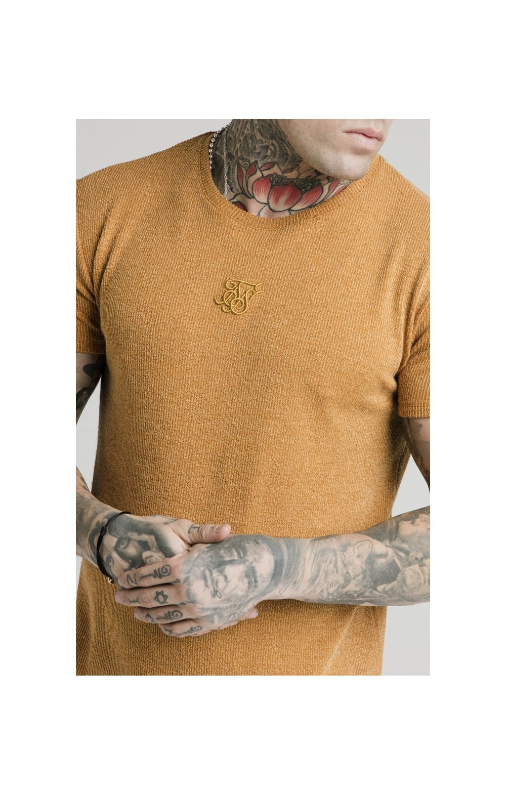 Load image into Gallery viewer, SikSilk Rib Knit Gym Tee - Yellow (1)