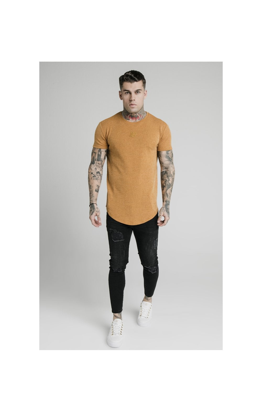 Load image into Gallery viewer, SikSilk Rib Knit Gym Tee - Yellow (2)