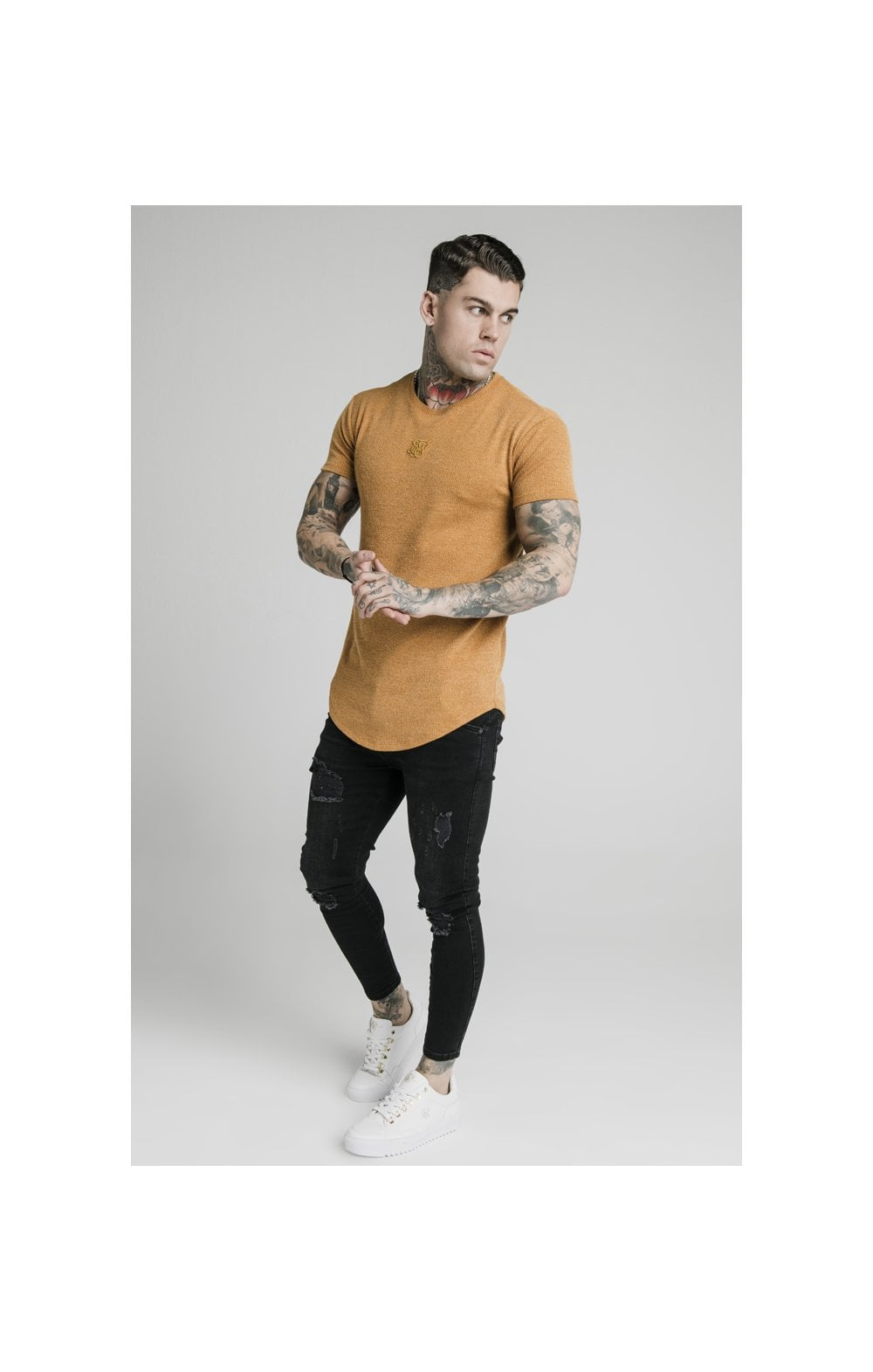 Load image into Gallery viewer, SikSilk Rib Knit Gym Tee - Yellow (3)