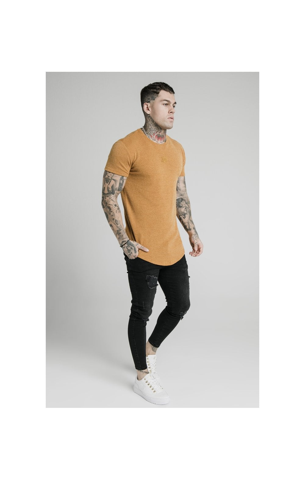 Load image into Gallery viewer, SikSilk Rib Knit Gym Tee - Yellow (4)