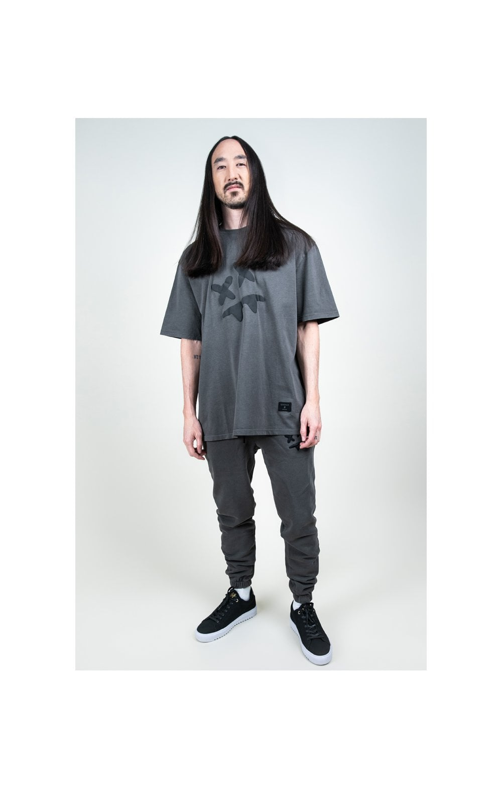 SikSilk X Steve Aoki S/S Oversize Essential Tee – Washed Grey (4)