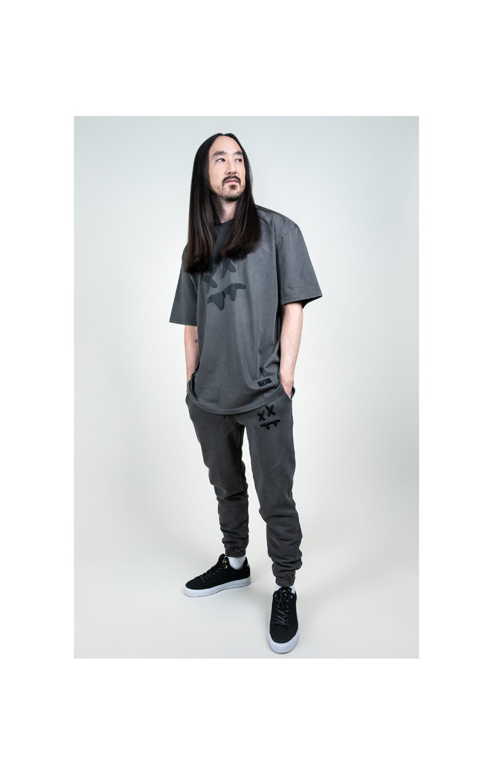SikSilk X Steve Aoki S/S Oversize Essential Tee – Washed Grey (5)