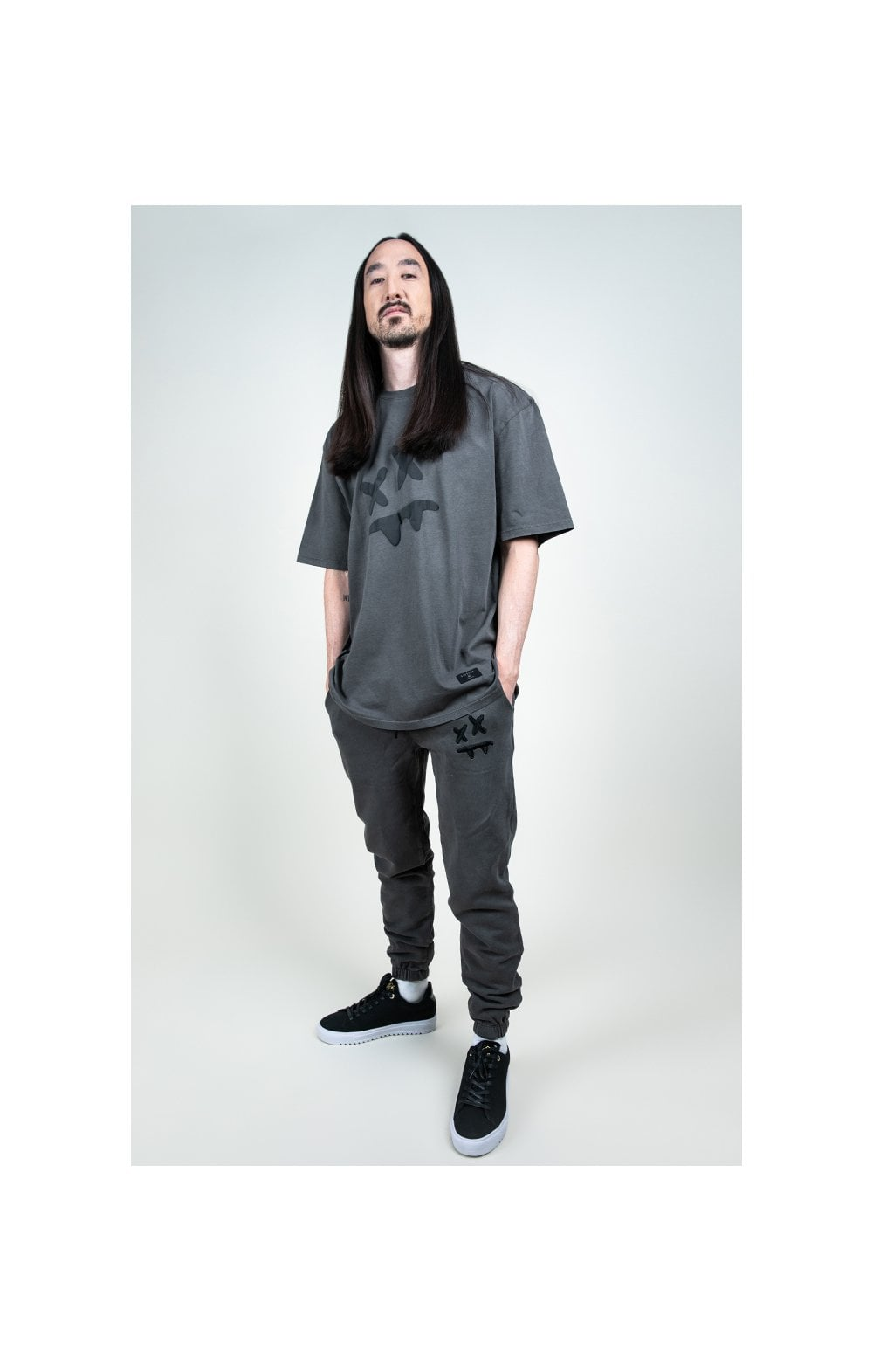 Load image into Gallery viewer, SikSilk X Steve Aoki Joggers - Washed Grey (4)