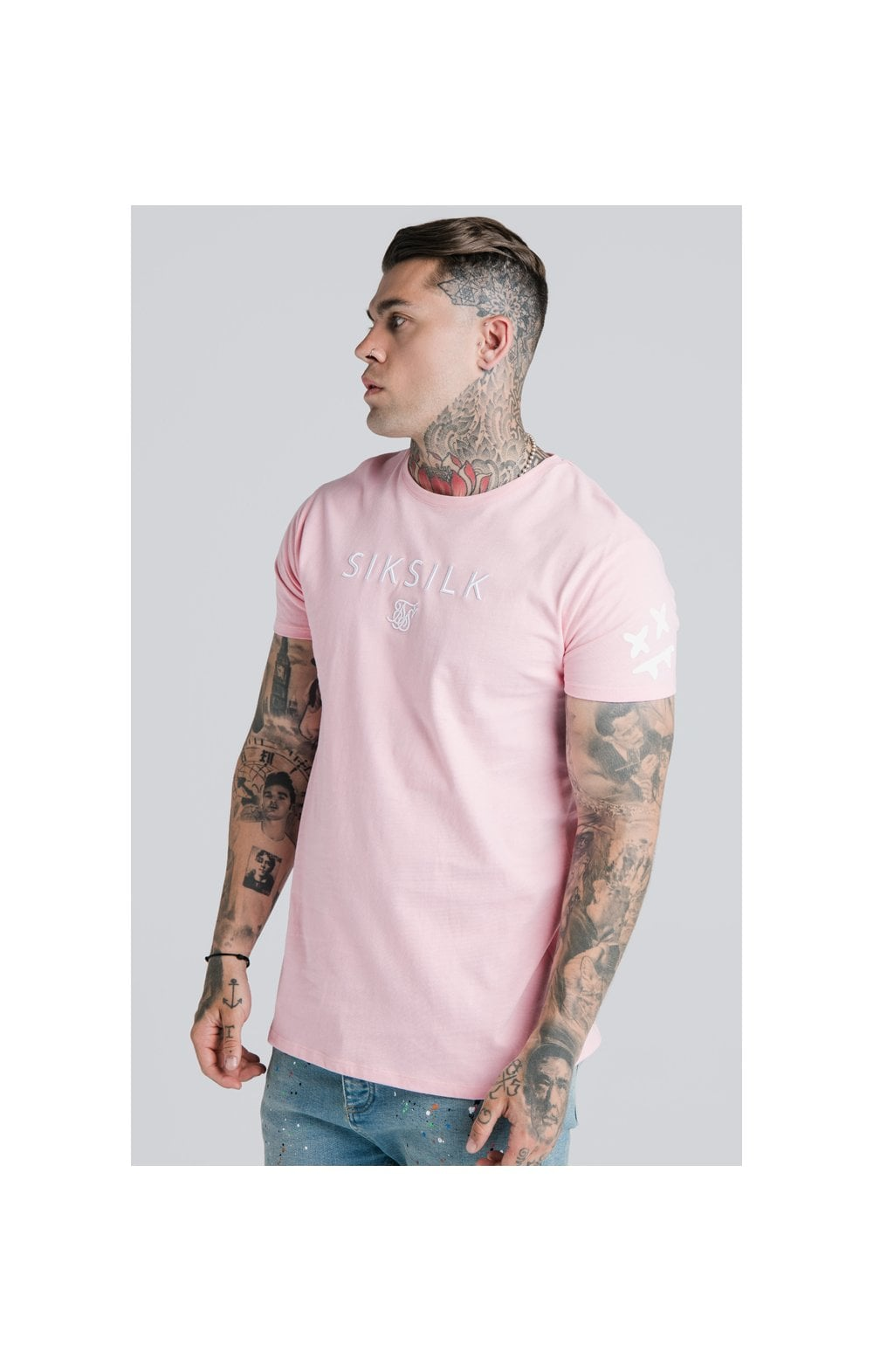 Load image into Gallery viewer, SikSilk X Steve Aoki S/S Box Tee – Pink (1)