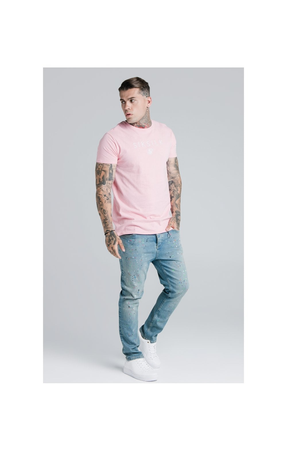 Load image into Gallery viewer, SikSilk X Steve Aoki S/S Box Tee – Pink (2)