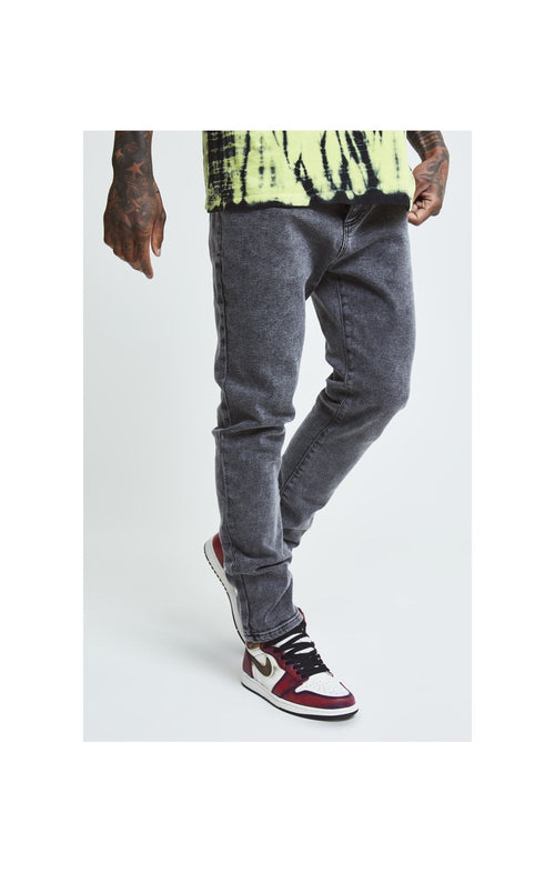 SikSilk X Steve Aoki Loose Fit Denims - Acid Black