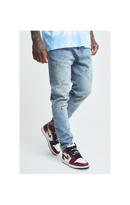 SikSilk X Steve Aoki Loose Fit Riot Denims - Light Wash