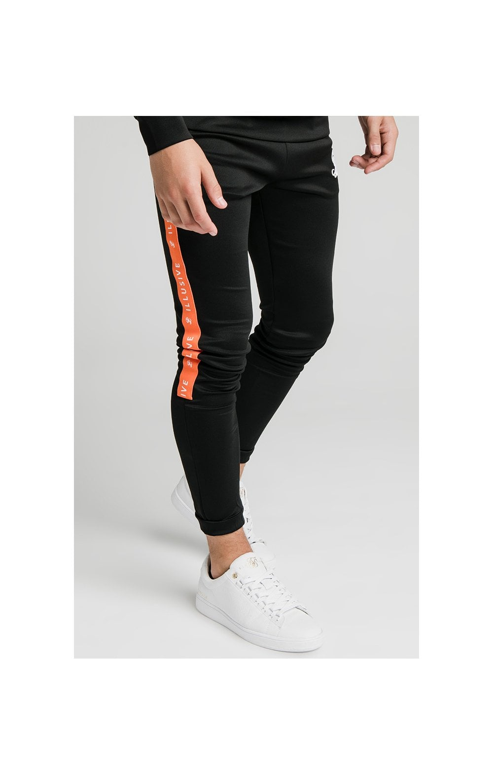 Illusive London Tape Joggers - Black (1)