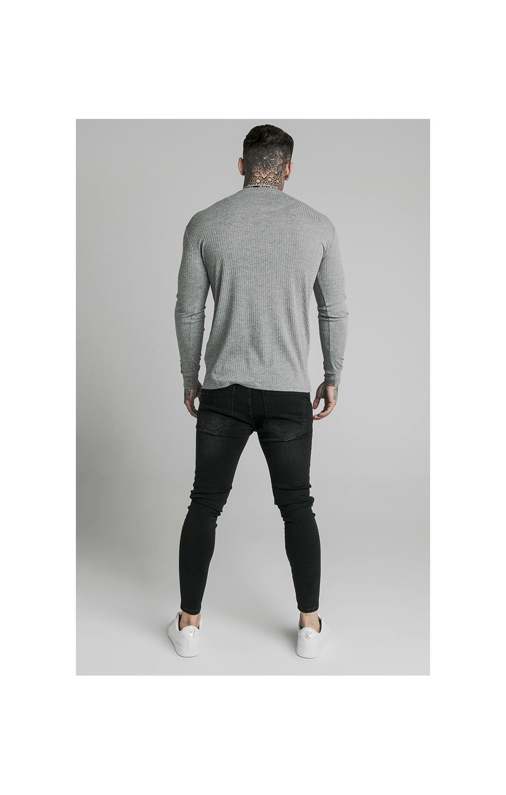 Load image into Gallery viewer, SikSilk L/S Rib Knit Tee - Grey (5)