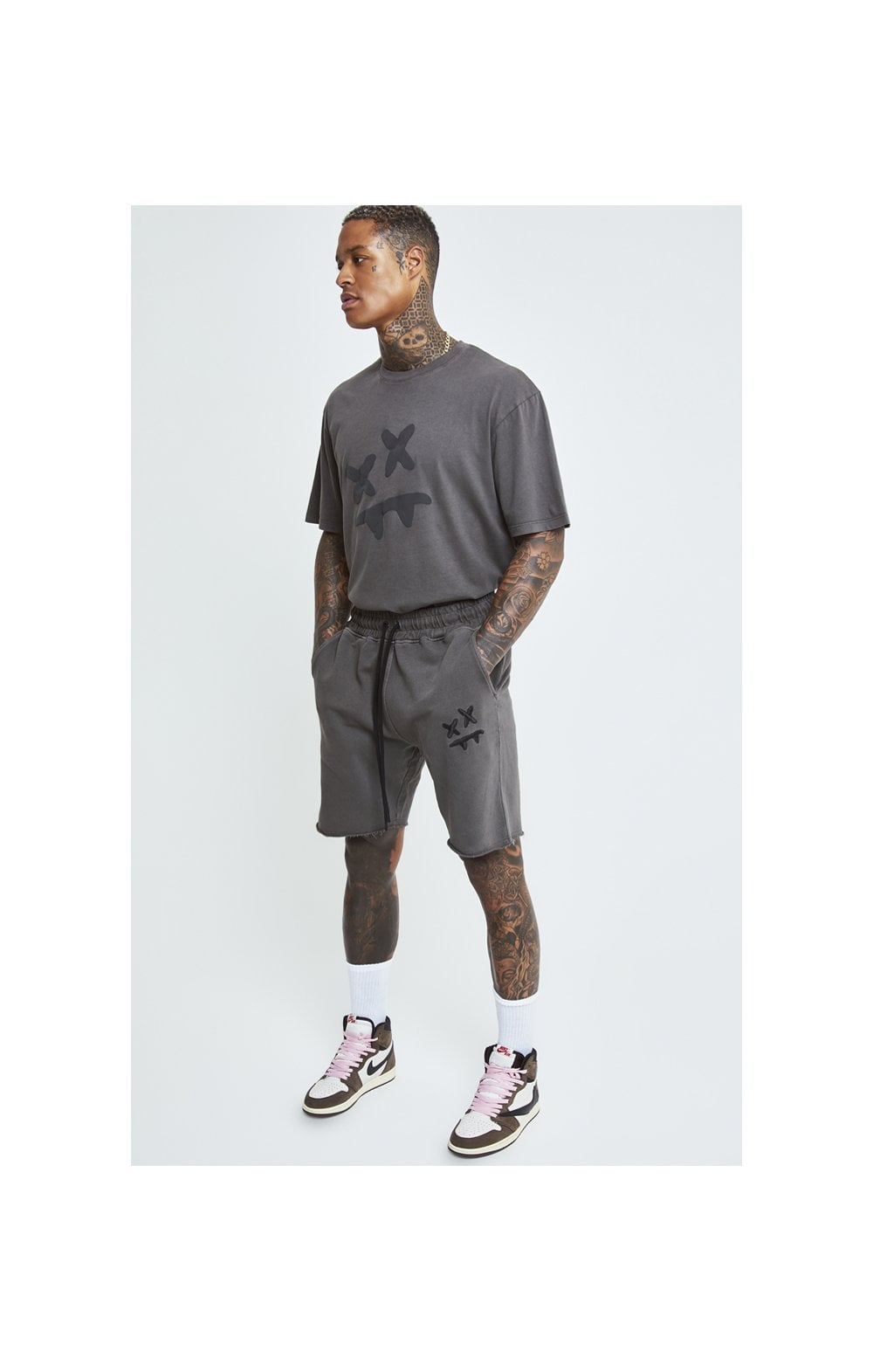 Load image into Gallery viewer, SikSilk X Steve Aoki S/S Oversize Essential Tee – Washed Grey (2)