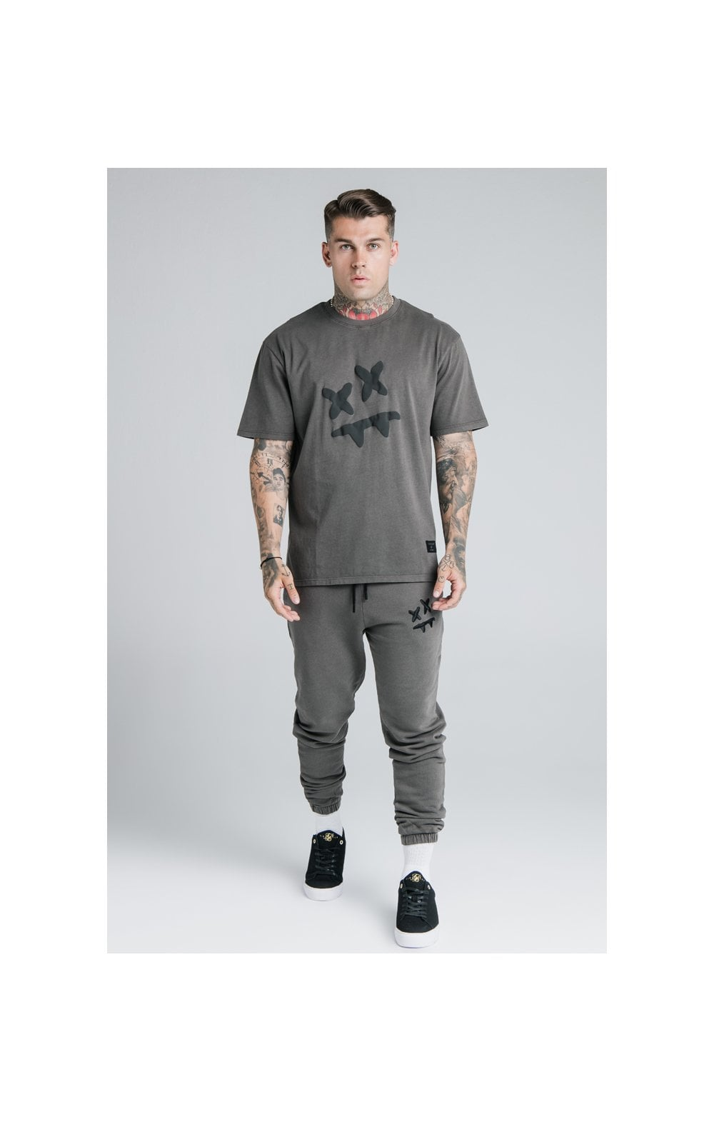 SikSilk X Steve Aoki S/S Oversize Essential Tee – Washed Grey (3)