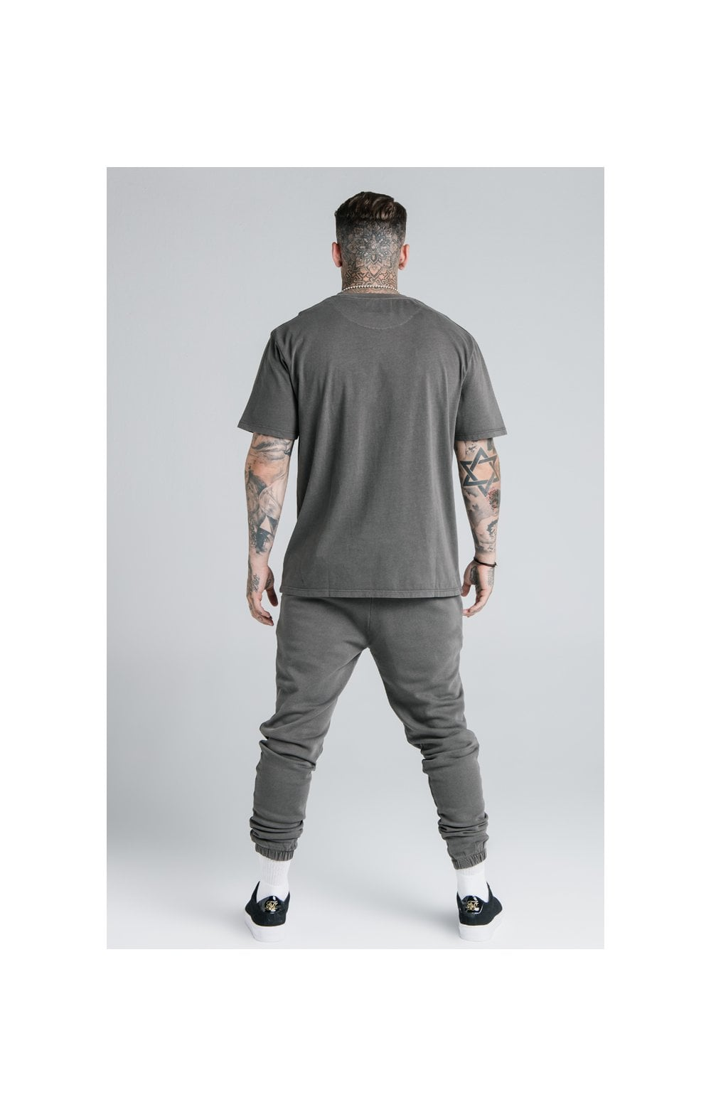 Load image into Gallery viewer, SikSilk X Steve Aoki S/S Oversize Essential Tee – Washed Grey (7)