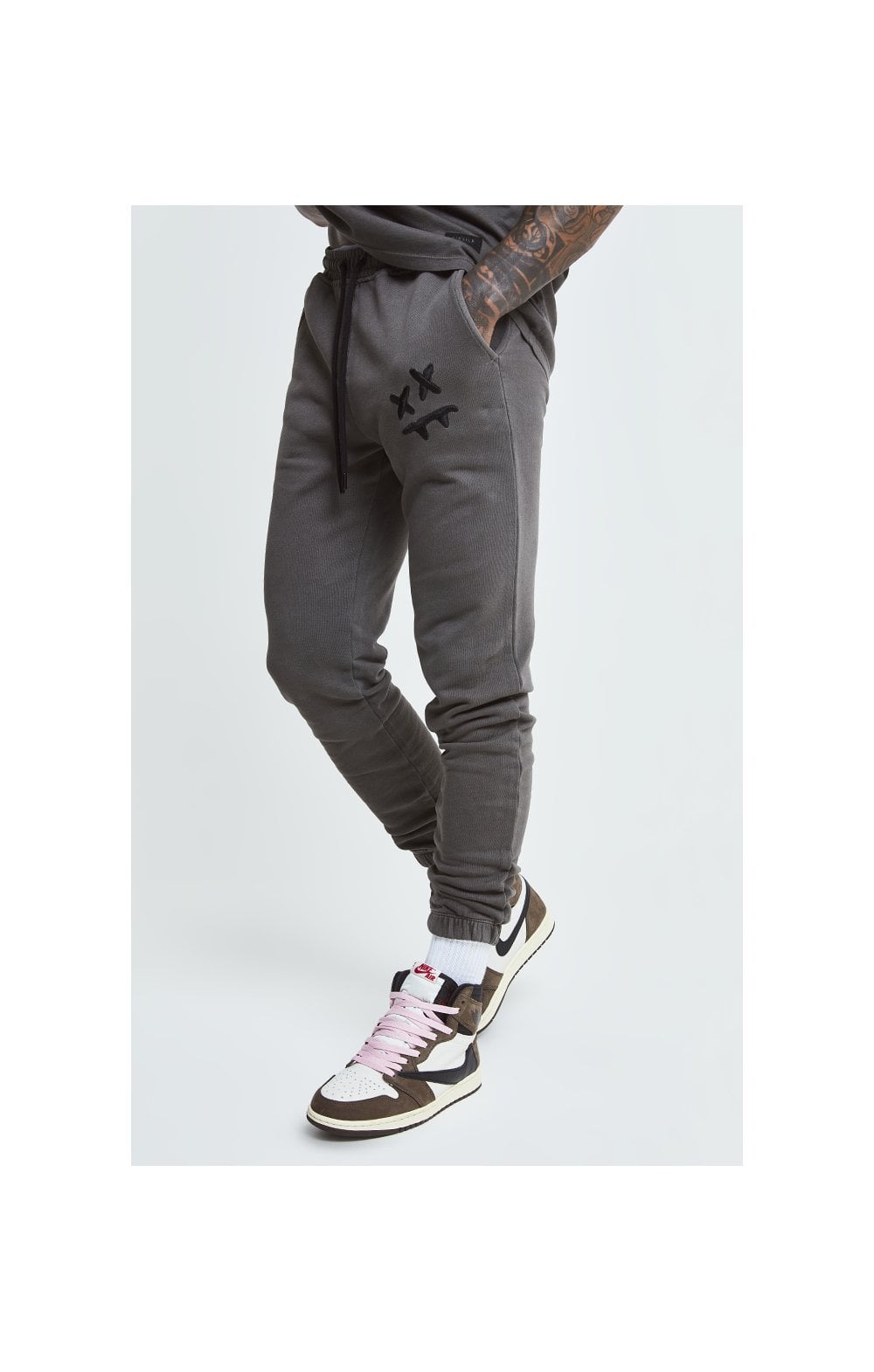 Load image into Gallery viewer, SikSilk X Steve Aoki Joggers - Washed Grey