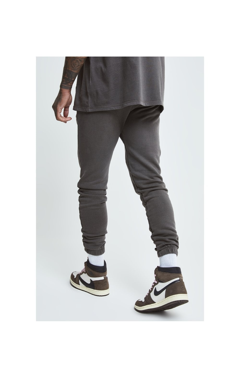 Load image into Gallery viewer, SikSilk X Steve Aoki Joggers - Washed Grey (1)