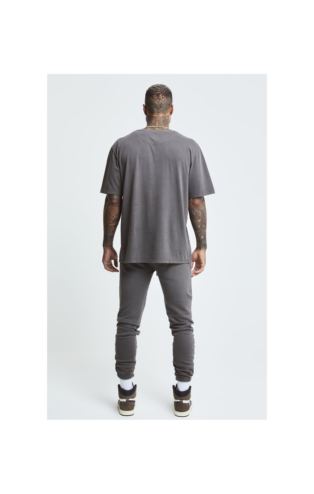 Load image into Gallery viewer, SikSilk X Steve Aoki Joggers - Washed Grey (7)