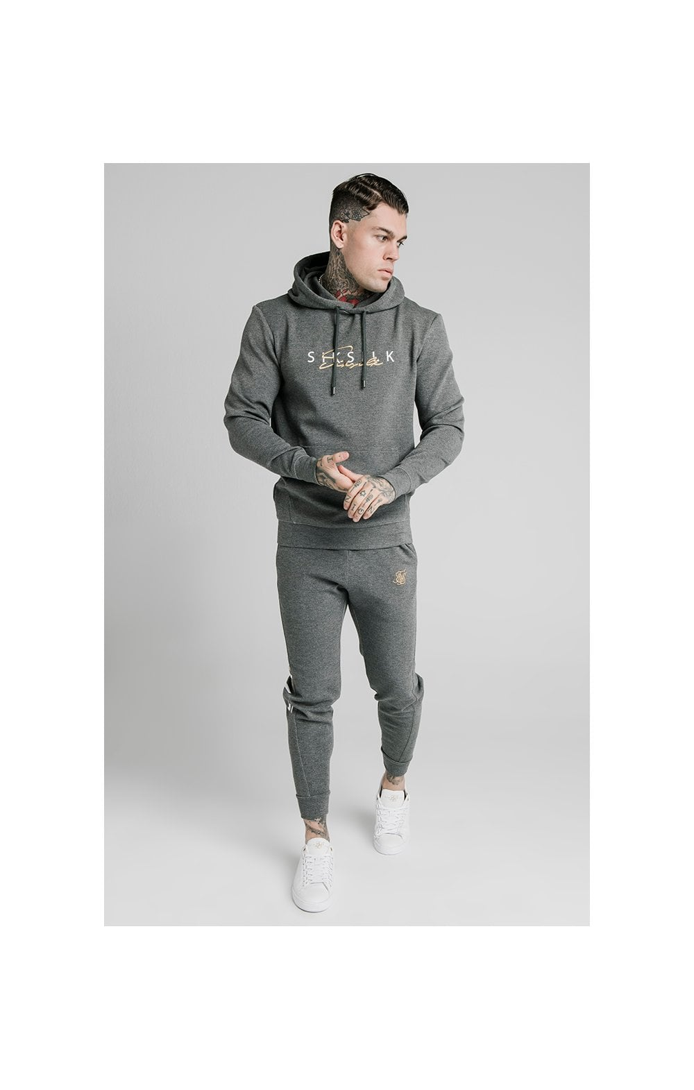 Load image into Gallery viewer, SikSilk Signature Overhead Hoodie - Grey