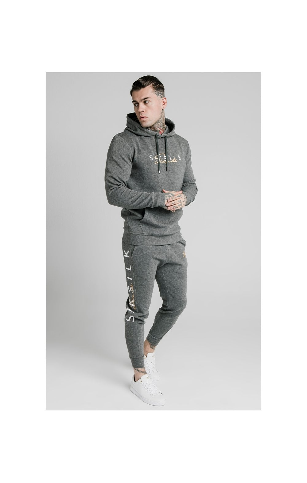 Load image into Gallery viewer, SikSilk Signature Overhead Hoodie - Grey (2)