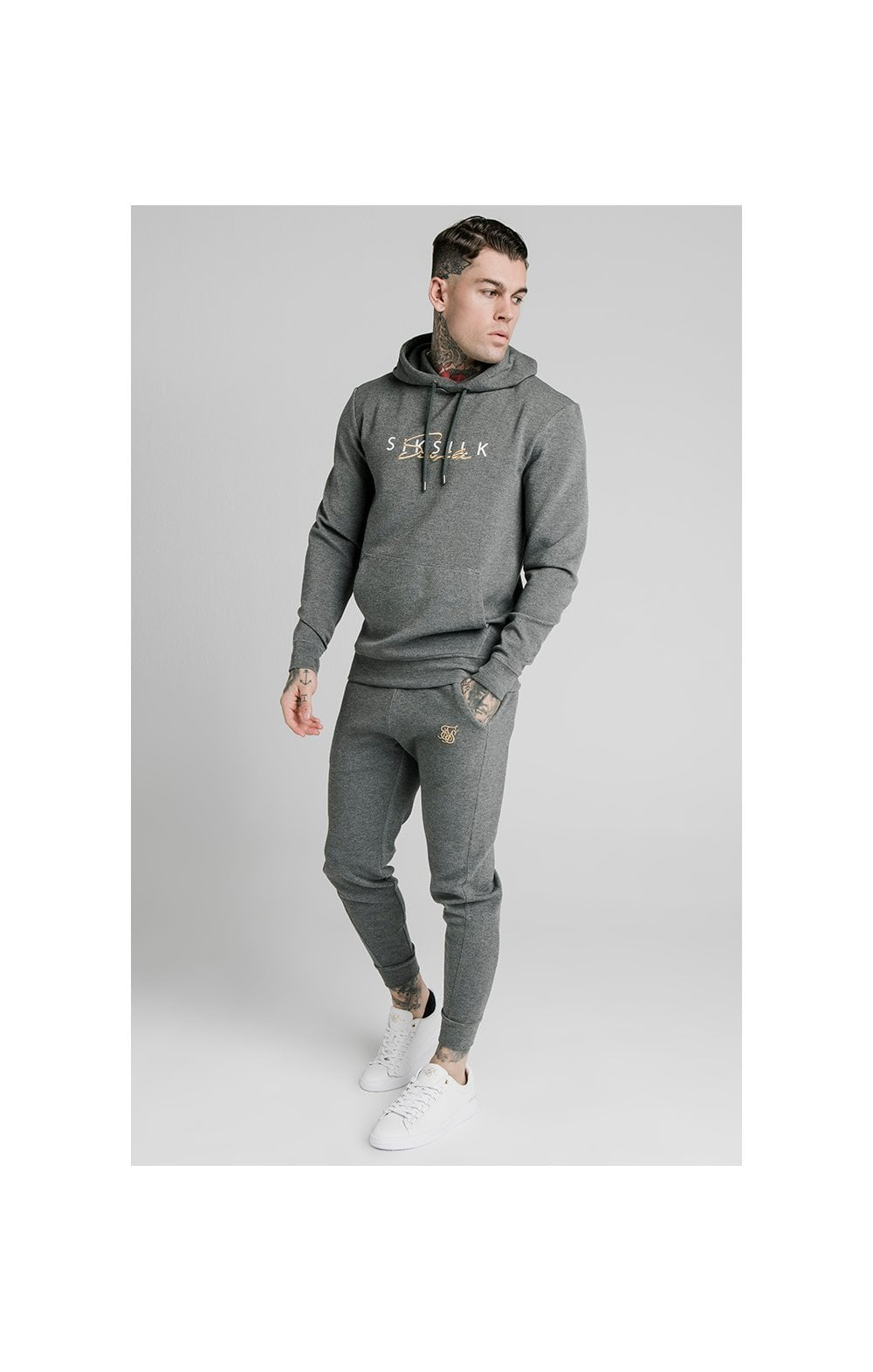 Load image into Gallery viewer, SikSilk Signature Overhead Hoodie - Grey (3)