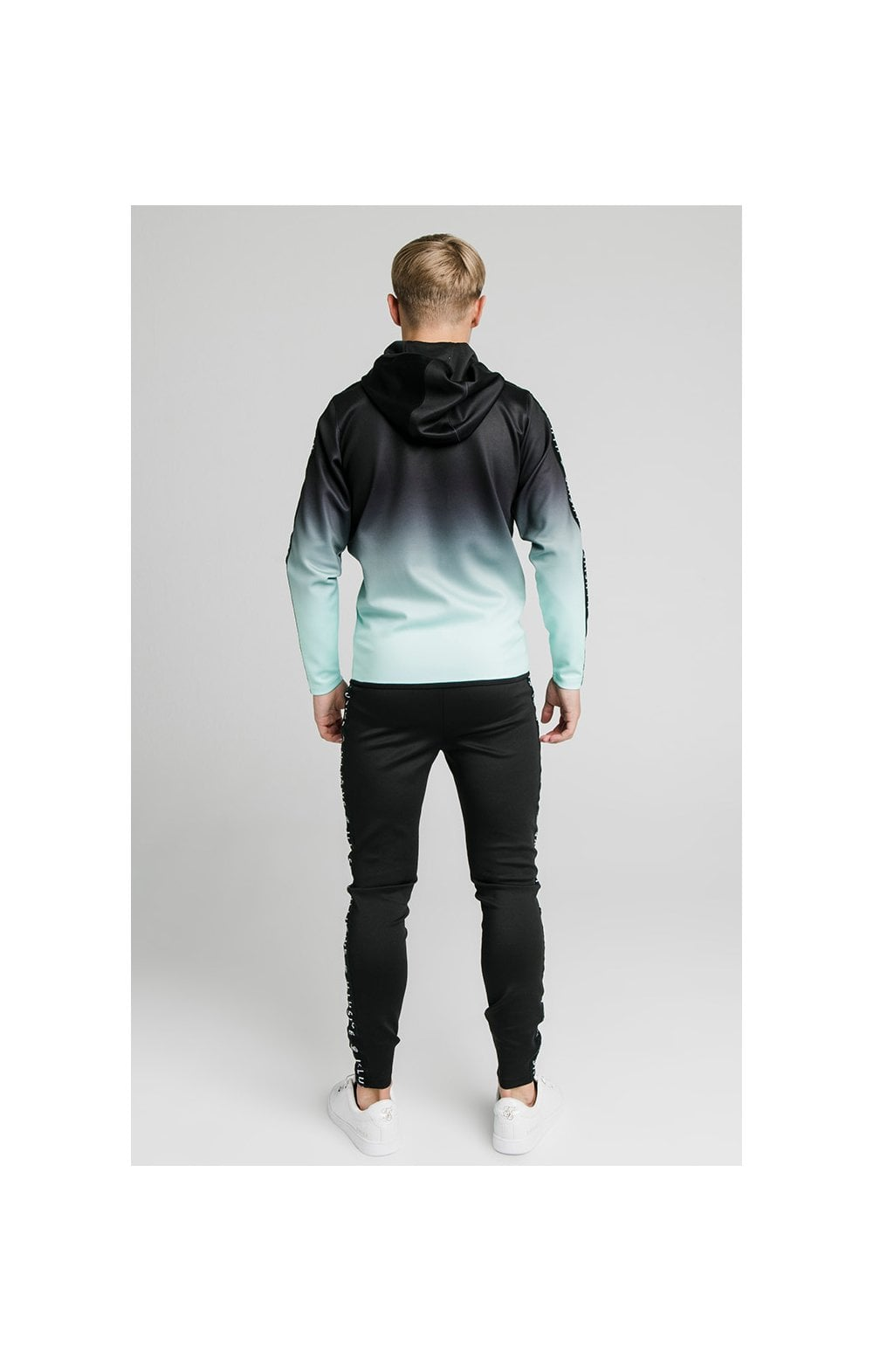 Load image into Gallery viewer, Illusive London Fade Scope Zip Through Hoodie - Black & Mint (4)