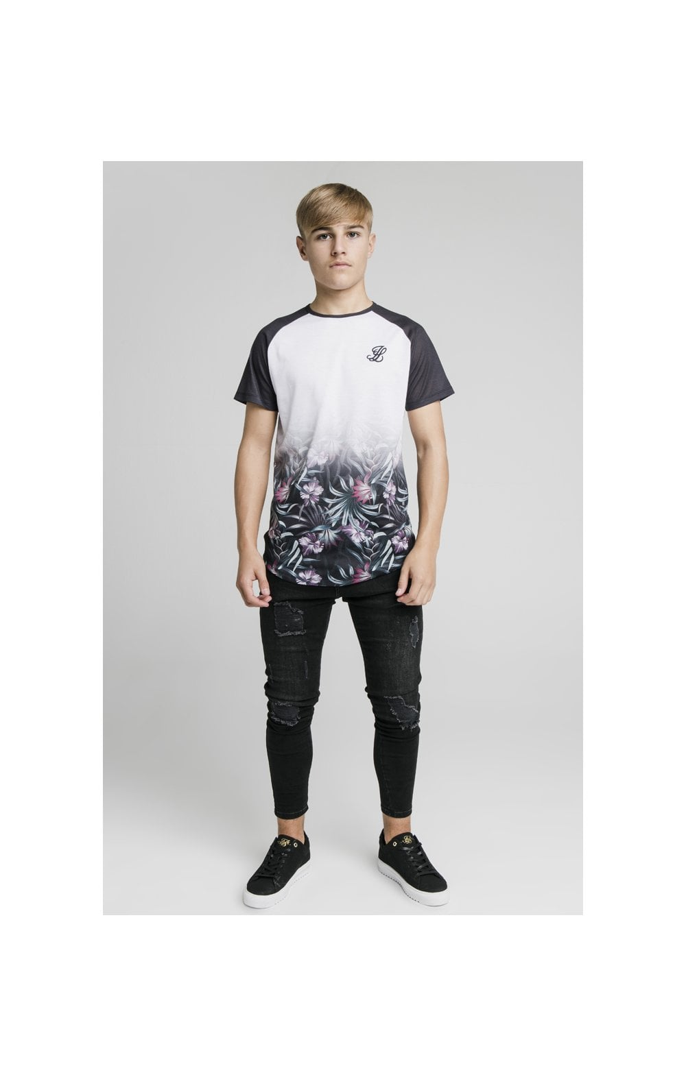 Illusive London Tropical Fade Tee - Navy & White (2)