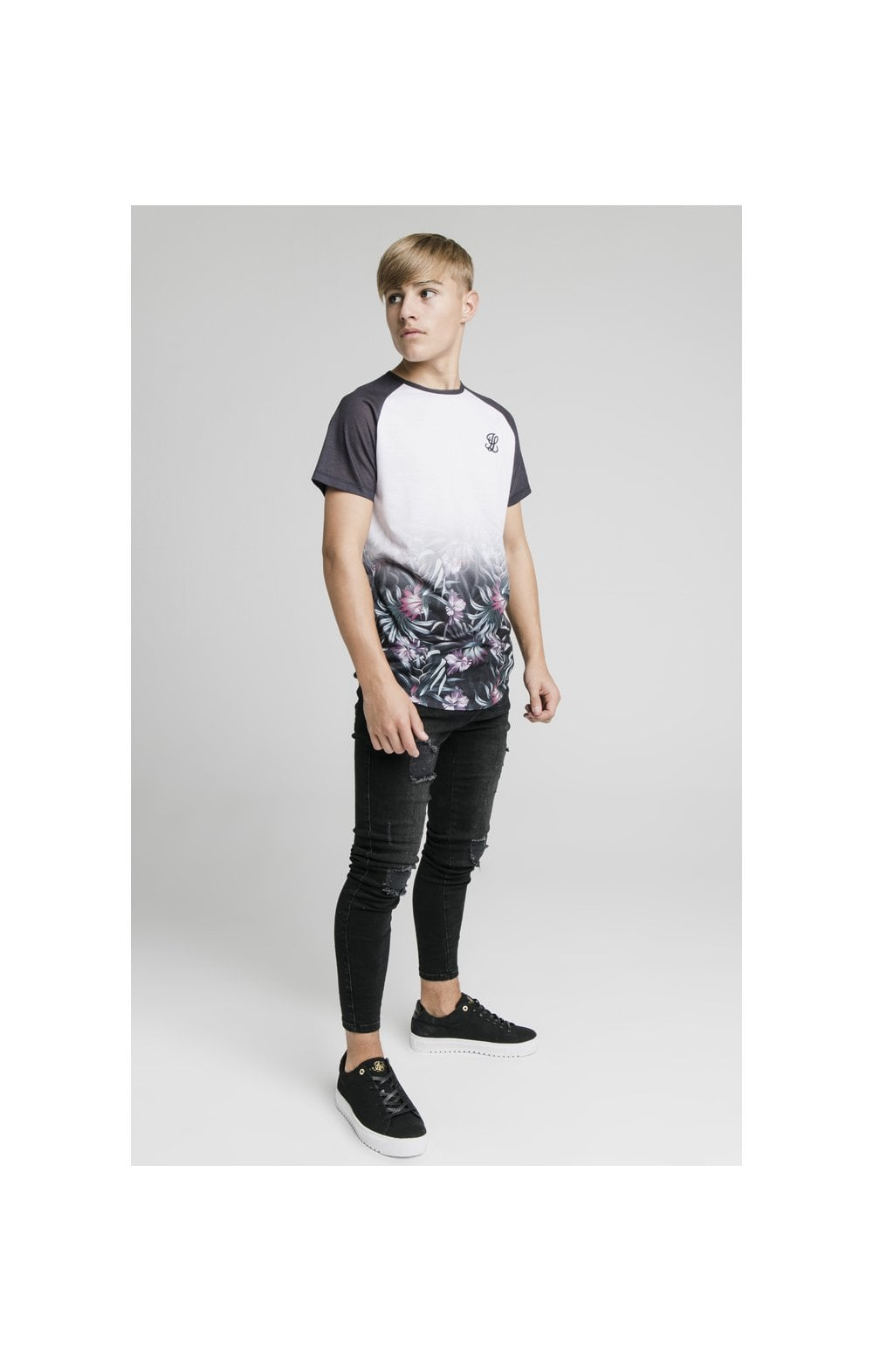 Illusive London Tropical Fade Tee - Navy & White (4)
