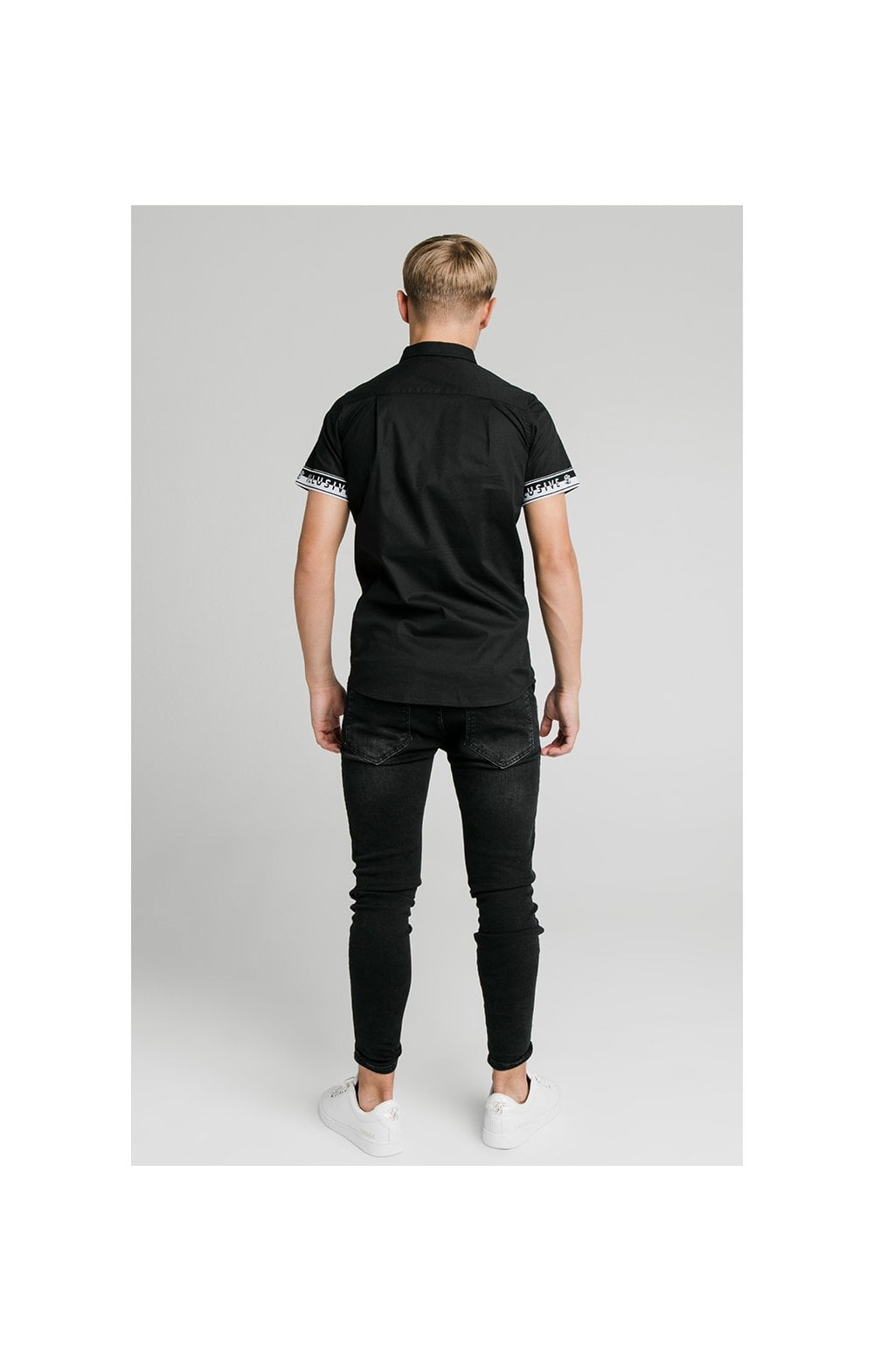 Illusive London Contrast Tape S/S Shirt - Black (4)